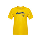 Youth Gold T Shirt-Baseball Bat