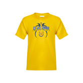 Youth Gold T Shirt-Basketball in Ball