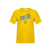 Youth Gold T Shirt-Basketball Pride