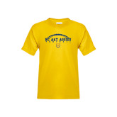 Youth Gold T Shirt-Arched Football
