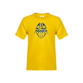 Youth Gold T Shirt-Tall Football