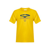 Youth Gold T Shirt-Swim & Dive Butterfly Swimmer