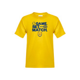 Youth Gold T Shirt-Tennis Game Set Match