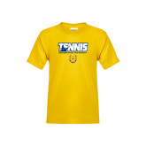 Youth Gold T Shirt-Tennis Player