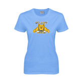 Ladies Sky Blue T-Shirt-NC A&T Aggies