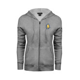 ENZA Ladies Grey Fleece Full Zip Hoodie-AT