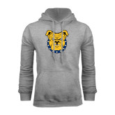 Grey Fleece Hood-Bulldog Head
