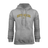 Grey Fleece Hoodie-Arched North Carolina A&T