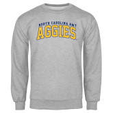 Grey Fleece Crew-Arched North Carolina A&T Aggies