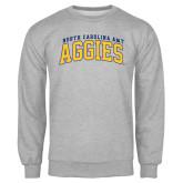 Grey Fleece Crew-Arched North Carolina A&T Aggies