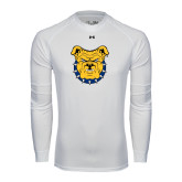 Under Armour White Long Sleeve Tech Tee-Bulldog Head