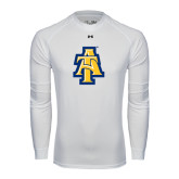 Under Armour White Long Sleeve Tech Tee-AT