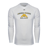 Under Armour White Long Sleeve Tech Tee-Aggie Pride