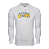 Under Armour White Long Sleeve Tech Tee-Arched North Carolina A&T Aggies