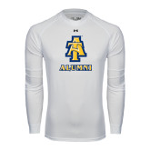 Under Armour White Long Sleeve Tech Tee-Alumni