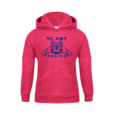 Youth Raspberry Fleece Hoodie-NC A&T Aggies