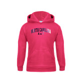 Youth Raspberry Fleece Hood-Arched North Carolina A&T