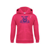 Youth Raspberry Fleece Hoodie-Kay Yow Breast Cancer Fund Ribbon