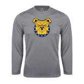 Performance Steel Longsleeve Shirt-Bulldog Head