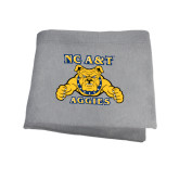 Grey Sweatshirt Blanket-NC A&T Aggies