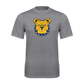 Performance Grey Concrete Tee-Bulldog Head