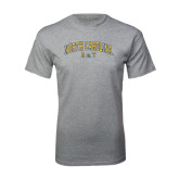 Grey T Shirt-Arched North Carolina A&T