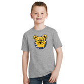 Youth Sport Grey T Shirt-Bulldog Head
