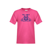 Youth Fuchsia T Shirt-NC A&T Aggies