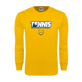 Gold Long Sleeve T Shirt-Tennis Player