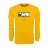 Gold Long Sleeve T Shirt-Tennis Player