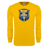 Gold Long Sleeve T Shirt-NC A&T Beat the Eagles