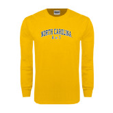 Gold Long Sleeve T Shirt-Arched North Carolina A&T