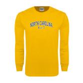 Gold Long Sleeve T Shirt-Arched North Carolina A&T