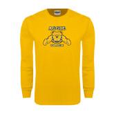 Gold Long Sleeve T Shirt-Track