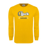 Gold Long Sleeve T Shirt-AT-The Lock-Aggie Athletics Get Locked In