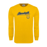 Gold Long Sleeve T Shirt-Baseball Bat