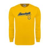 Gold Long Sleeve T Shirt-Baseball Bat