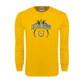 Gold Long Sleeve T Shirt-Basketball in Ball