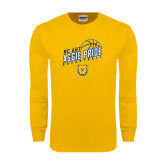 Gold Long Sleeve T Shirt-Basketball Pride