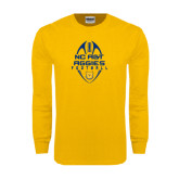 Gold Long Sleeve T Shirt-Tall Football