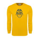 Gold Long Sleeve T Shirt-Tall Football