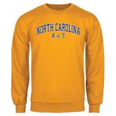 Gold Fleece Crew-Arched North Carolina A&T