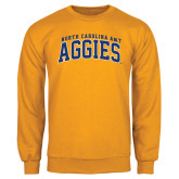 Gold Fleece Crew-Arched North Carolina A&T Aggies