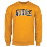 Gold Fleece Crew-Arched North Carolina A&T Aggies