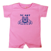 Bubble Gum Pink Infant Romper-NC A&T Aggies