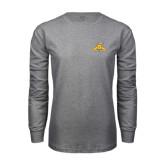 Grey Long Sleeve TShirt-NC A&T Aggies