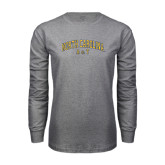 Grey Long Sleeve TShirt-Arched North Carolina A&T