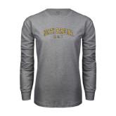 Grey Long Sleeve TShirt-Arched North Carolina A&T