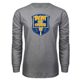 Grey Long Sleeve T Shirt-NC A&T Beat the Eagles