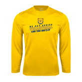 Performance Gold Longsleeve Shirt-Volleyball Can You Dig It